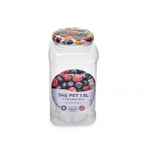 Słoik słój PET plastik z metalowym wieczkiem 1,5L