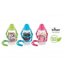Bidon ozdobny ze słomką butelka 500 ml dla dziecka