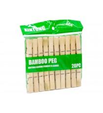 Klamerki do bielizny spinacze bambusowe 20szt