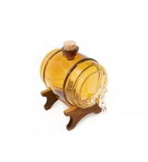 Beczka szklana beczułka karafka z kranikiem Bur 1L