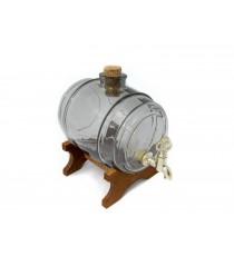 Beczka szklana beczułka karafka z kranikiem Pop 1L
