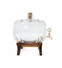 Beczka szklana beczułka karafka z kranikiem T 2L