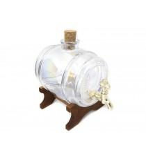 Beczka szklana beczułka karafka z kranikiem T 5L