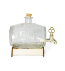 Beczka szklana beczułka karafka z kranikiem 0,5L