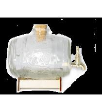 Beczka szklana beczułka karafka z kranikiem 0,95L