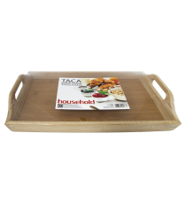 Taca bambusowa tacka śniadaniowa deska 39 x 23,5cm