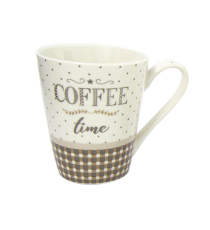 Kubek PORCELANA 305ml na kawę herbatę Good Morning