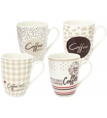 Kubek PORCELANA 340ml na kawę herbatę Coffee Time