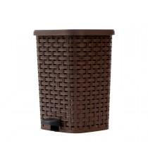 Kosz na śmieci odpady z pedałem Rattan 26L Brązowy