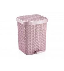 Kosz na śmieci odpady z pedałem Tress 22L Różowy