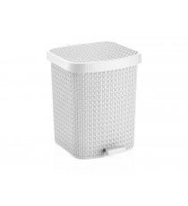 Kosz na śmieci odpady z pedałem Tress 22L Biały