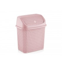 Kosz na śmieci odpady uchylny Tress 10L Różowy