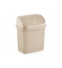Kosz na śmieci odpady uchylny Tress 10L Kremowy