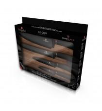 Komplet noży 5el noże z deską drewnianą BH-2503 Berlinger Haus Black Rose collection