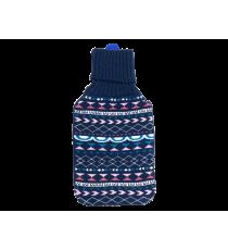 TERMOFOR gumowy z POKROWIEC 2L sweterek GRANATOWY