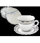 Zestaw kawowy 6+6 serwis filiżanek PORCELANA 1849D