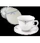 Zestaw kawowy 6+6 serwis filiżanek PORCELANA 1836S