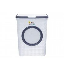 Kosz pojemnik na pranie bieliznę Rattan 65L Biały