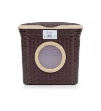 Pojemnik na detergenty proszek Rattan 10L Brązowy