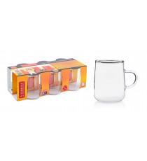 Kubek baryłka szklanka żaroodporna 250ml 6szt