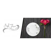 Talerz talerzyk deserowy PORCELANA Kwiaty Lilie