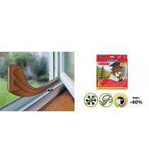 Uszczelka do drzwi okien BRĄZOWA PROFIL E 6M