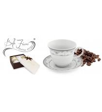 Zestaw kawowy 2+2 serwis filiżanek PORCELANA 1718S