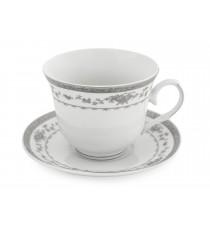 Zestaw kawowy 6+6 serwis filiżanek PORCELANA 1719S