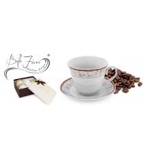 Zestaw kawowy 2+2 serwis filiżanek PORCELANA 1826G