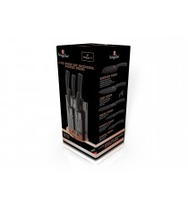 Komplet noży 6el noże w bloku BH-2336 Berlinger Haus Black Rose collection